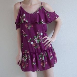 NWT Almost Famous cold should chiffon dress